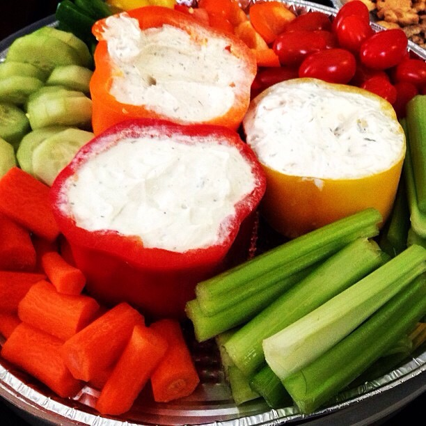 Edible serving bowls for veggie dip!