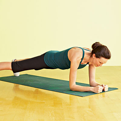 first, do a plank and hold it for 30 seconds