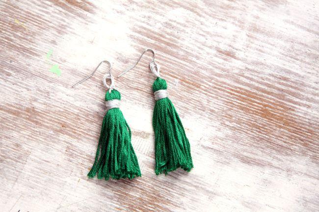 Trust me, tassel-making is addictive. Once you've mastered the earrings, try this pendant necklace for another bit o' green.