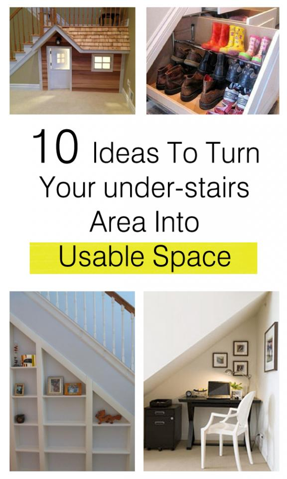 Here are a few ideas to turn your under-stairs area into usable space. Read More > http://bit.ly/Wh5Dwv