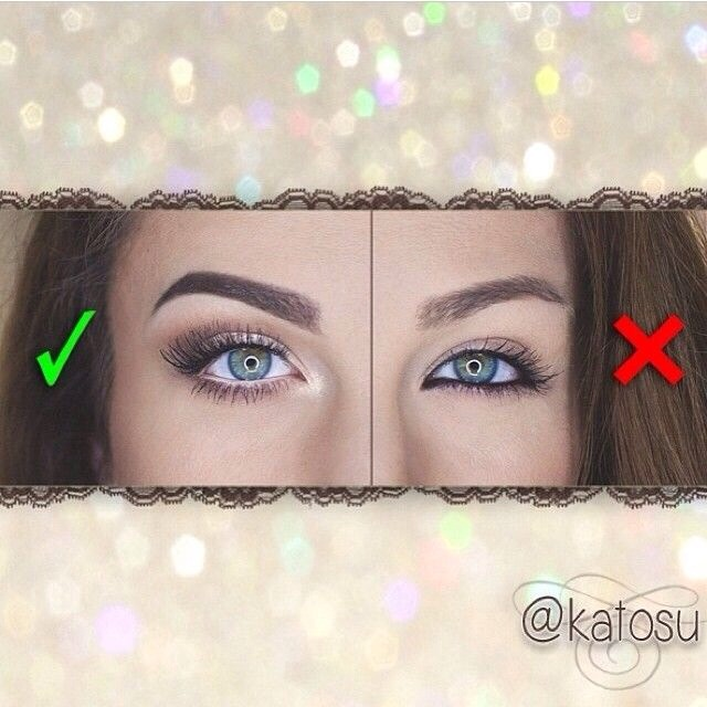 Use a white or nude liner for the bottom lash line and not black!