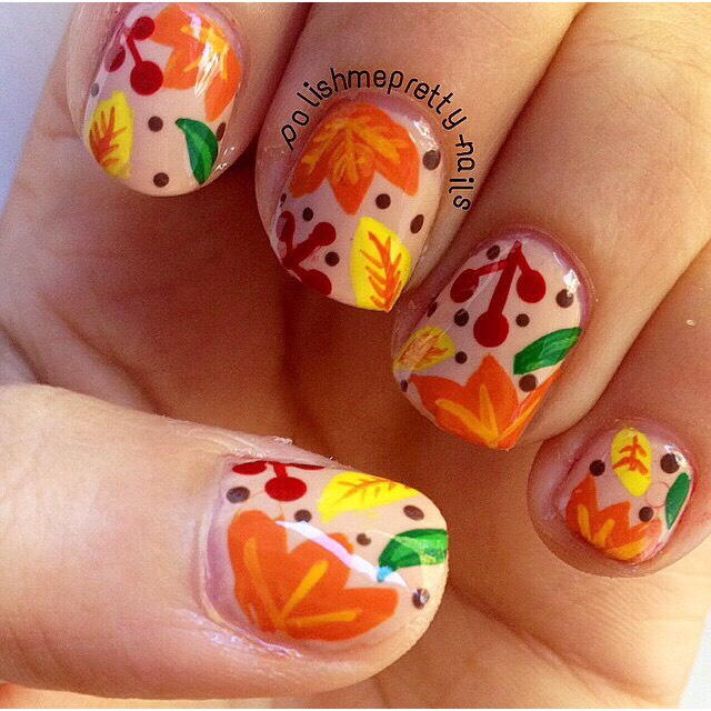 Thanksgiving nails😋 credit to the Instagram account in the photo^^