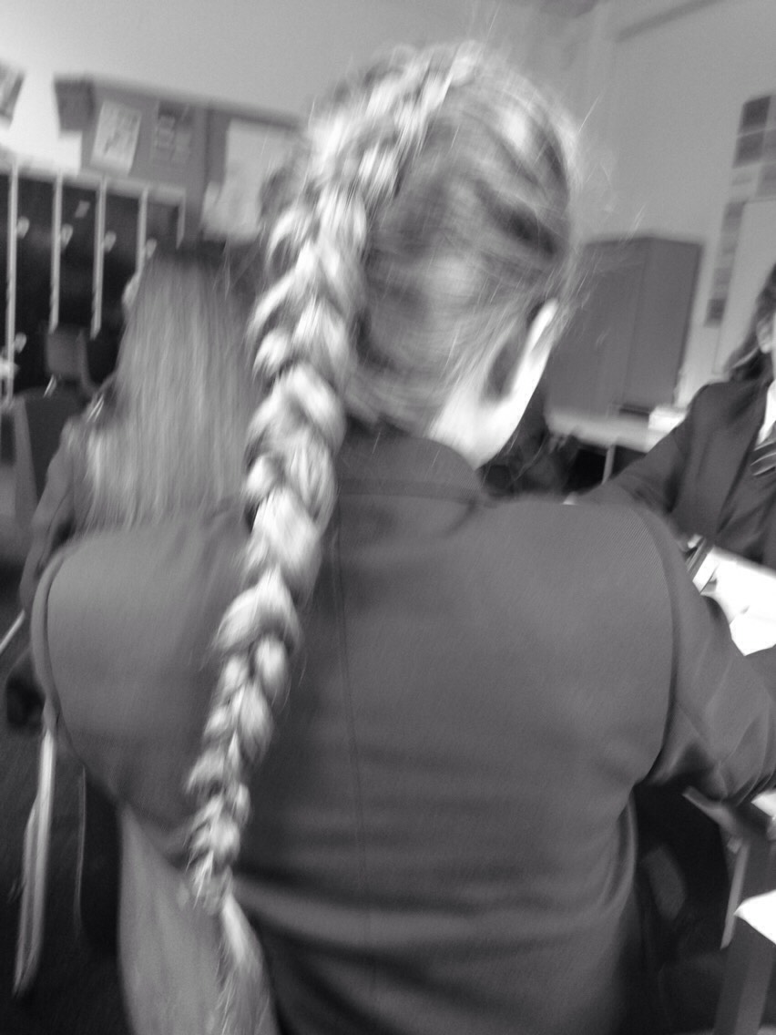 Okay, so you're going to have to be able to do a normal French plait if not you get 3 sections of hair from the top of your head and keep adding it as you go along.