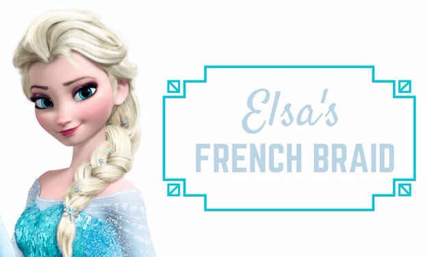 5. If you want to look like this badass heroine, start with a side French braid. If it is too hard for you, start practicing with a regular one and then just go sideways. Don't worry about making it perfect — you'll need to mess with it at the end to achieve that thick-braid effect Elsa has.