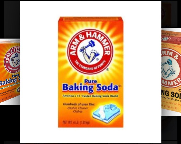 Baking soda can take any stains off such as crayon , marker , and paint