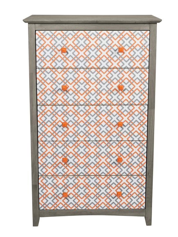 In a Day: Give Your Dresser Retro Swagger Use a patterned decal sheet and vintage-inspired knobs to create a retro-cool dresser like HGTV Magazine did here.