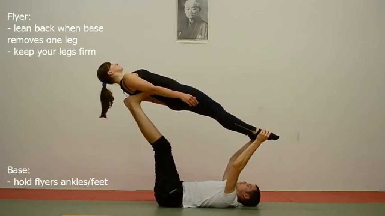 With acro yoga you must be careful you or your partner can easily get hurt. Here are some tips!