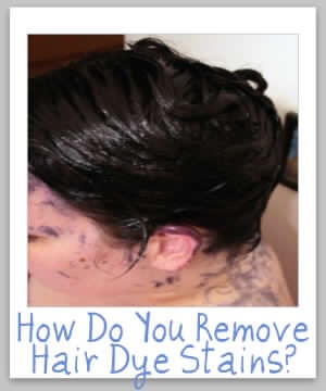 how to get hair dye off skin instantly