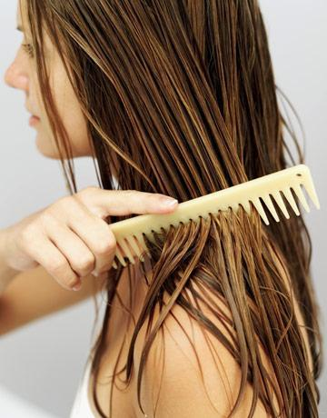 DONT brush your hair while wet. It damages your hair
