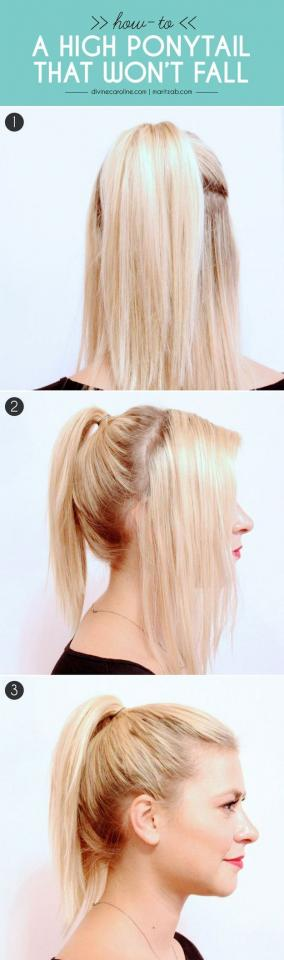 22. Here's a cool technique for getting all those stray baby hairs to stay in your ponytail.