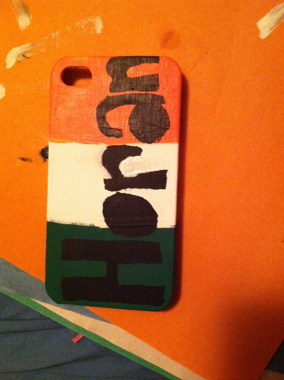 After you paint the letters on, it should look something like this. You may need to clean up the edges.