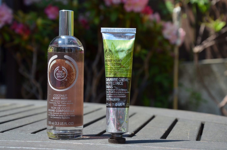 Body spray and hand cream