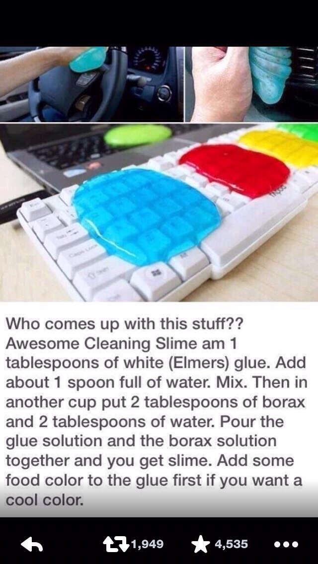 DO NOT use this it well ruin your stuff 1 it does not look like that 2 it leaves little pieces of borax and the mixture on everything it touches