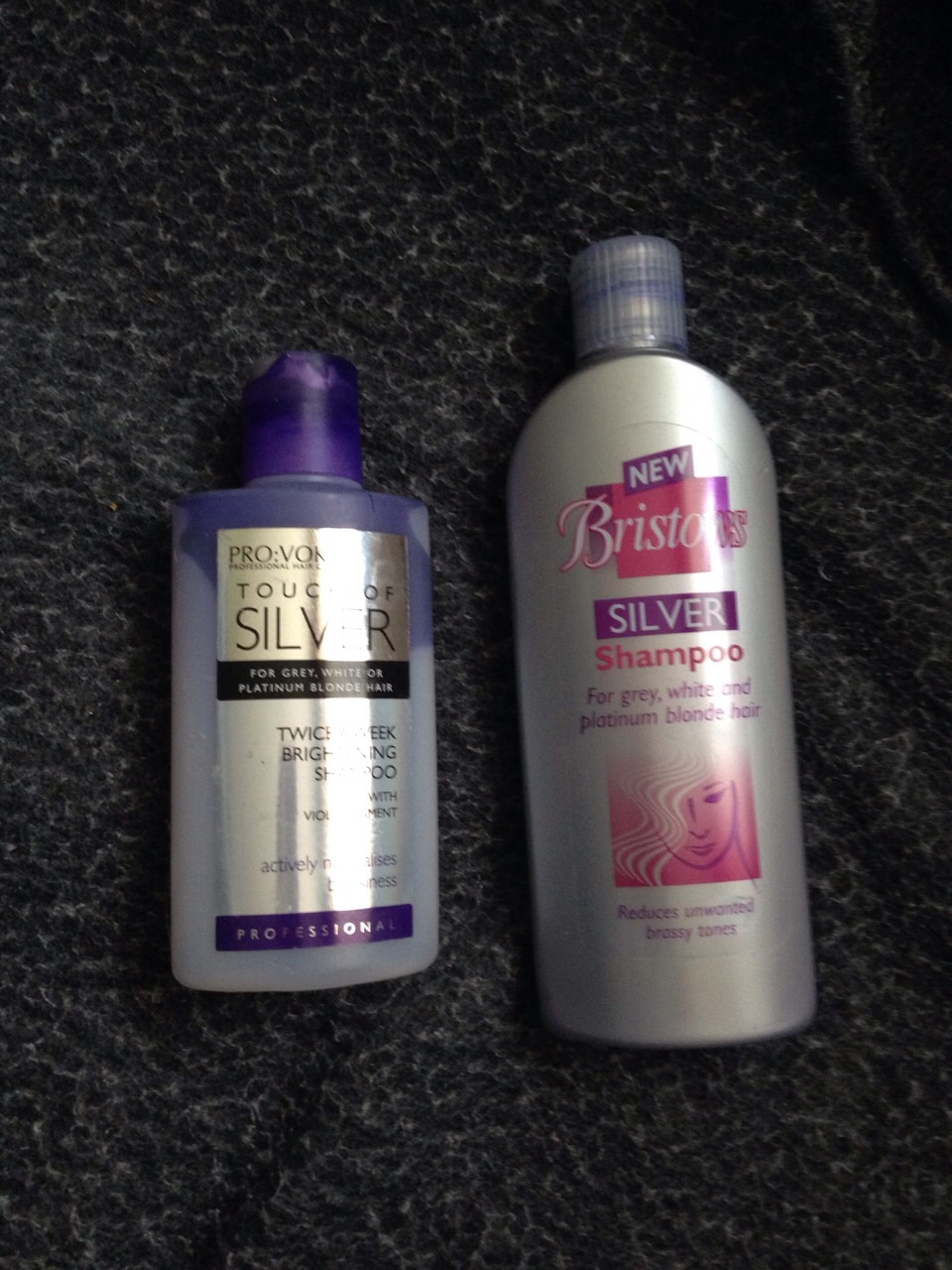 These are the shampoos I used overnight