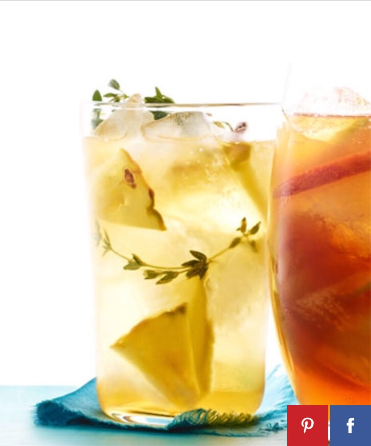 Pineapple and Thyme Iced Tea http://www.womansday.com/food-recipes/food-drinks/recipes/a12110/pineapple-thyme-iced-tea-recipe-wdy0613/