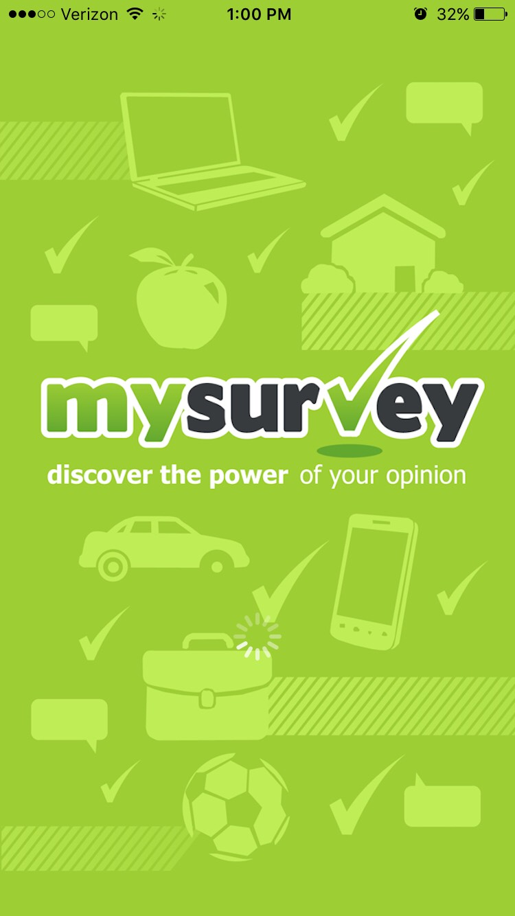 2.)MySurvey My survey lets you earn money for completing surveys online. The actual website is better than the app.