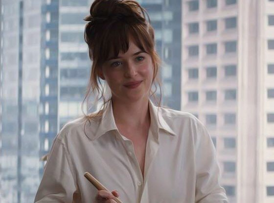"Dakota Johnson in Fifty Shades of Grey, 2015 ""Throughout the entire Fifty Shades of Grey movie, I couldn't stop thinking about Dakota Johnson's bangs.""  —Jenna Rennert, Vogue.com Beauty Assistant"