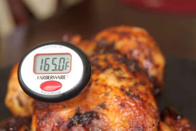 You cook the turkey past 165°F.   Stop doing that. Don't cook your turkey to 180°F; it'll be dry. A turkey is safe to eat when cooked to 165°F. Some chefs recommend only cooking poultry to 160°F since meat will continue to cook after you take it out of the oven.