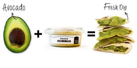 2. Avocado + Hummus = Fresh Dip
