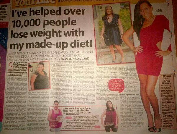 Terrianns made up diet went global