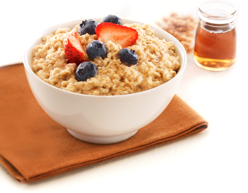 OATMEAL is high in soluble fibre which helps reduce and keep cholesterol lower.its also a good source of potassium and magnesium. Stick to old fashioned oats or steel cut oats and limit added sugar. Top with nuts fruit for a delicious comfort breakfast.