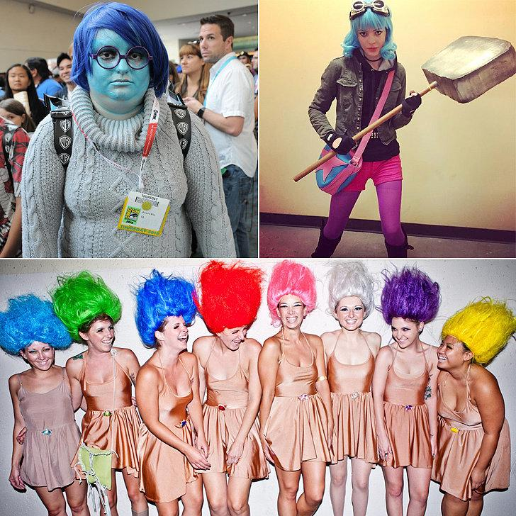 Costumes: Sadness from Inside Out, Ramona Flowers from Scott Pilgrim vs. the World, or troll dolls Hair Color Temporary Comb-In Hair Color ($1)
