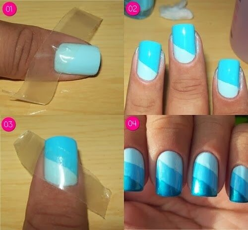 A great and easy way to get beautiful nails in no time!! ⌚️🎀