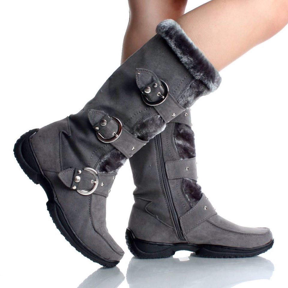 These are winter boots. They are super comfy and super fashionable. Walking around in the snow may not be a problem! They come in different colors, but these boots are great with anything.