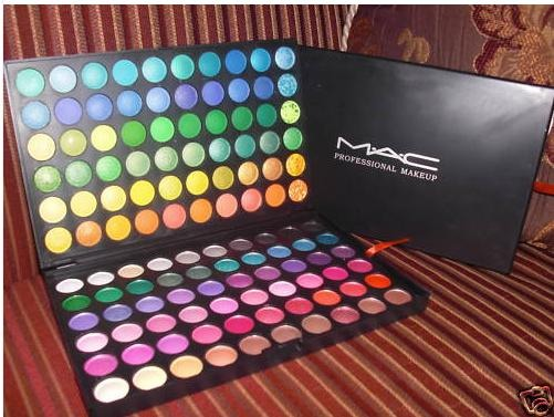 A bright eye shadow palette, used for 'bright' nights out
