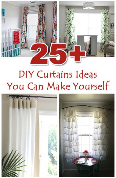 Check these some projects and tutorials for window treatments to help you to freshen up your home with new interesting curtains. http://bit.ly/1muFAGP