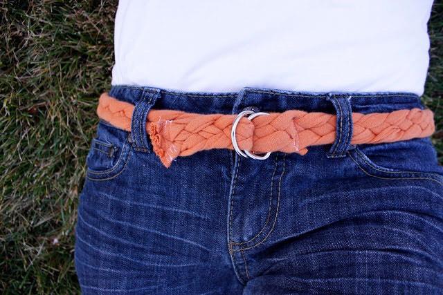 6. Braided t-shirt belt