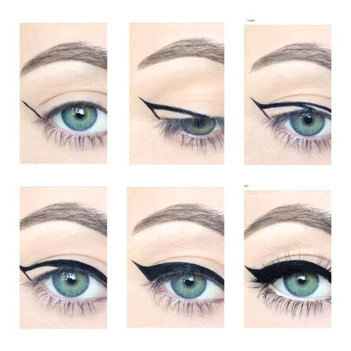 My personal favorite step is eyeliner. Here are a few step by steps to help you along your way.