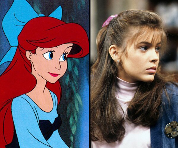Ariel is based on Alyssa Milano.