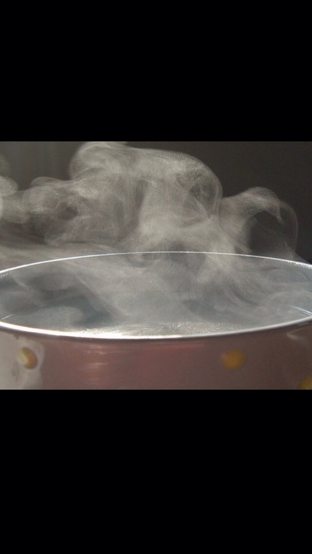 Then place some water in a pan just enough to cover the bottom! Then bring to the boil and place your freshly painted nails in the steam till dry