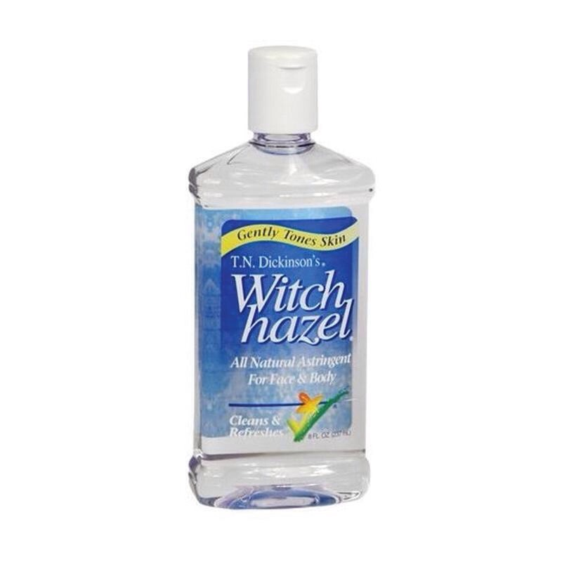 Using witch hazel every night after you wash your face will clear up your skin in no time.