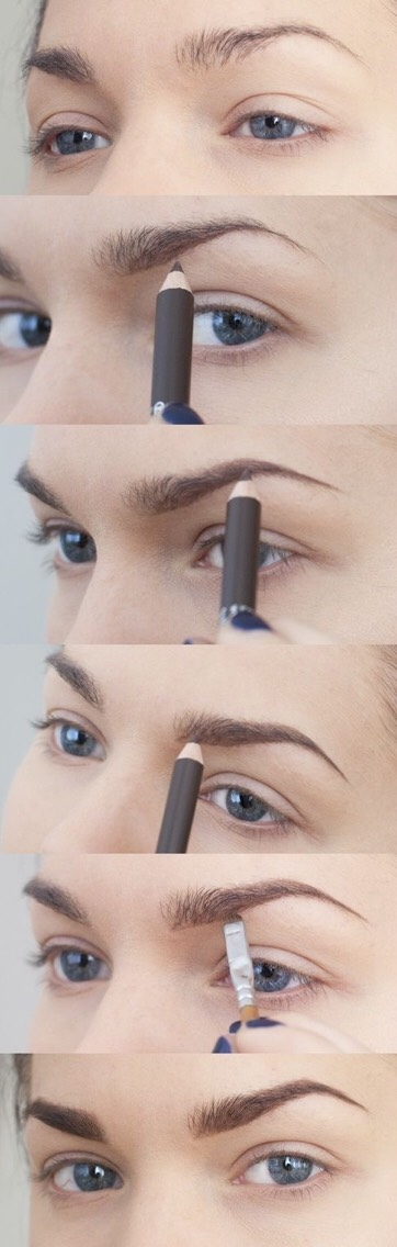 Step by step how to use eyebrow pencil