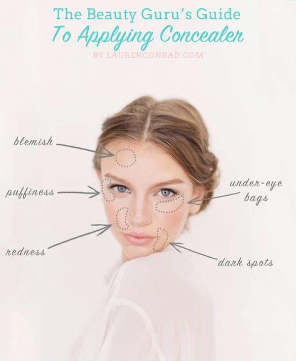 Brilliant tips for flawless complexion! Learn things like: how to conceal under-eye circles, dark spots or scars, how to conceal a blemish, how to apply concealer around the nose, how to conceal puffiness, tips on different concealer colors, and lastly what tools you need to achieve perfection! --->