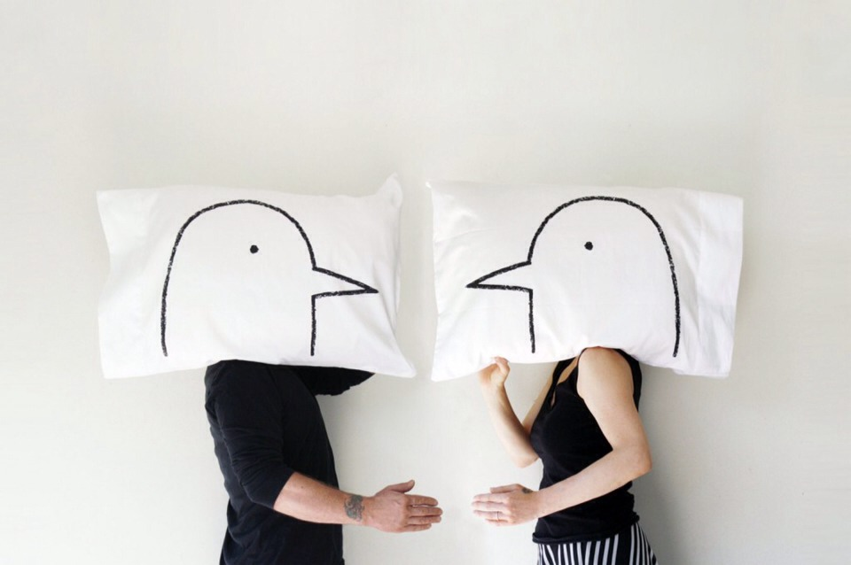 6. Love Birds pillow cases (€25, Xeno Tees). Let the shenanigans commence with these Love Birds pillowcases. They say the secret to a happy relationship is never going to bed angry and I'm guessing that a few minutes spent chirping at each other in bed would ease the tension.