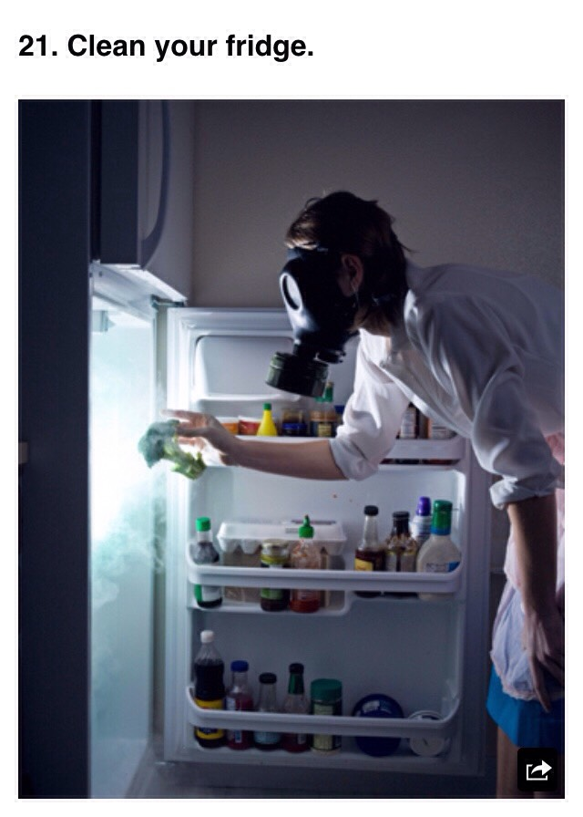 Once something goes bad in your fridge or cupboard, it leaves a nice gang of mold ready to eat your new food.