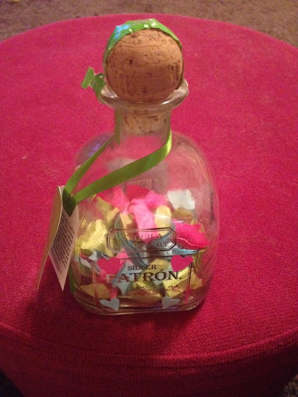 Now fill your bottle with your special notes!! When finished wrap up all pretty and give it to that special person.