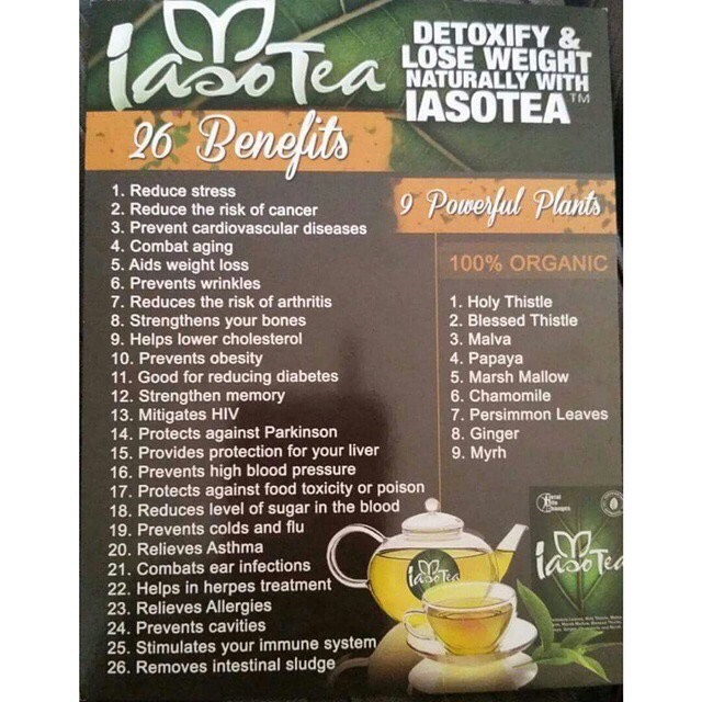 The tea has up to 26 benefits