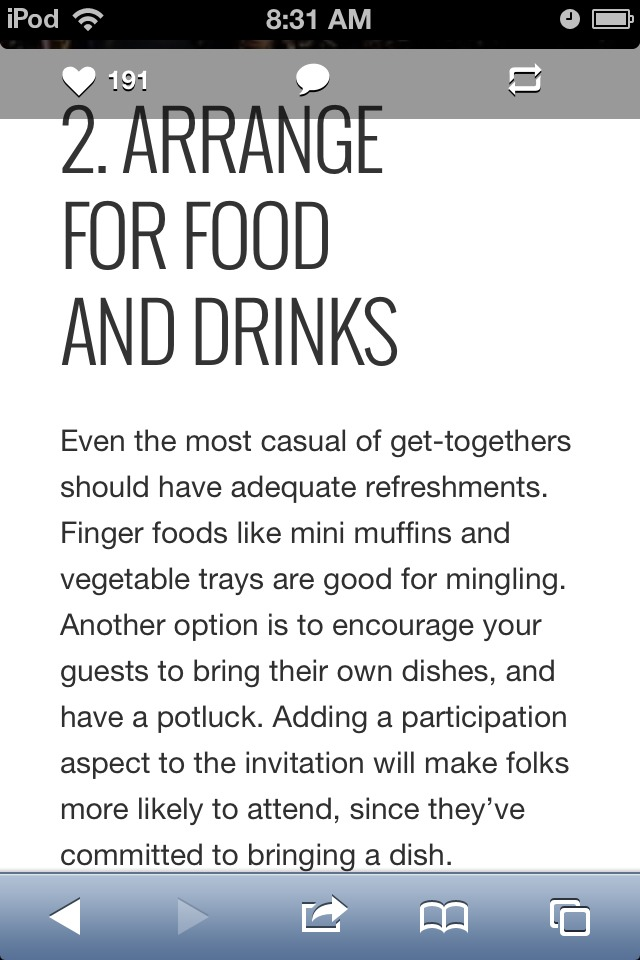 2. Have Food And Drinks