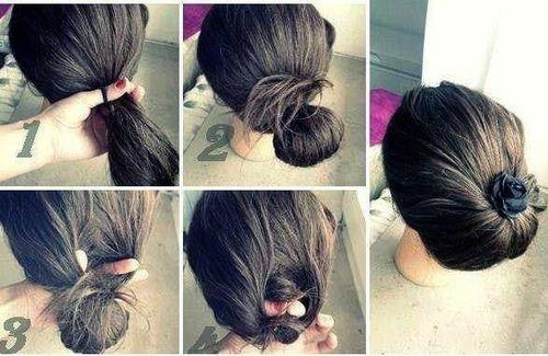 Low Bun With Bow By Migdalia Milagros Romero Doger Musely
