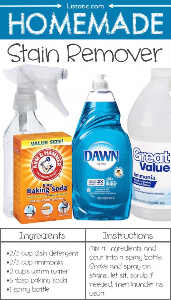 14. Homemade Stain Remover