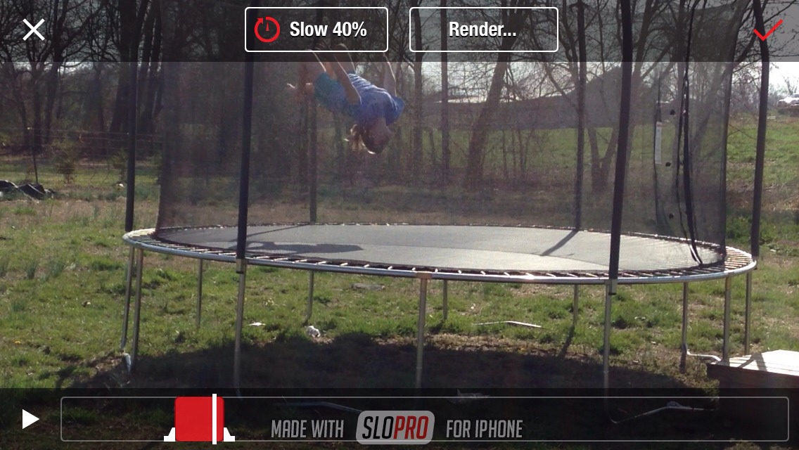 Download the Slo Pro app for free! Take any video and speed it up or slow it down!