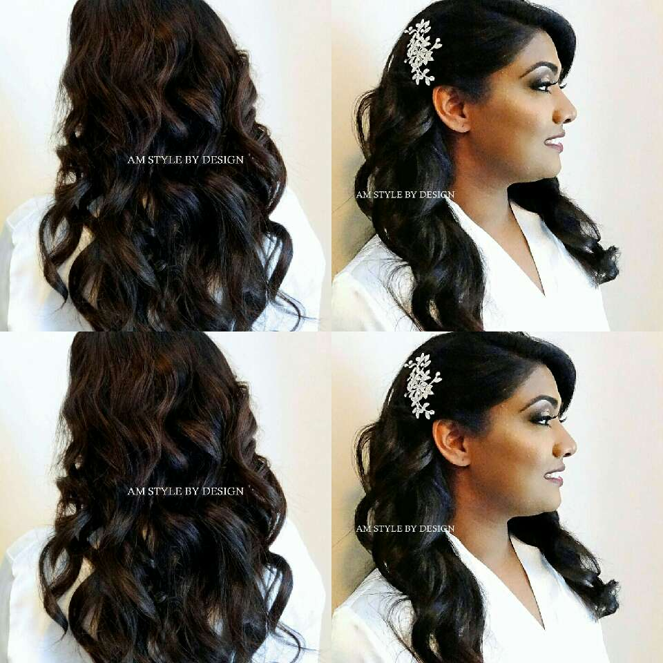 Bridal Hair Glam Style I just loved creating this beautiful style for her wedding day! This is all her hair no hair extensions needed! #atlweddinghairstylist#bridalhairstyleideas#glamstyle#oldhollywoodhair#amstylebydesignfb#weddinghairideas#atlweddinghair#longhairstyles#bridehairstyle#weddinghair#ha