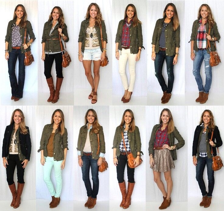 Green jackets go with almost anything!