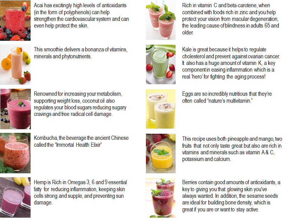 Try out these great smoothies..