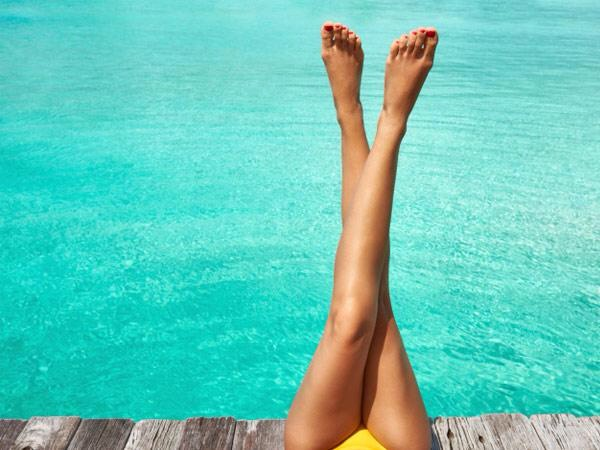 Keep legs compressed like in leggings over night after shaving.