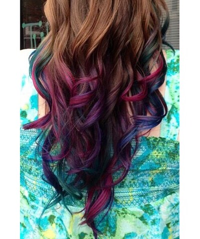 Dark colored ends gives playful color without commiting to dying all of your hair!!!